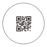 Sample Bar Code Label - 1 inch (2.25 cm) square