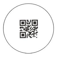 Sample Bar Code Label - 1 inch (2.25 cm) square