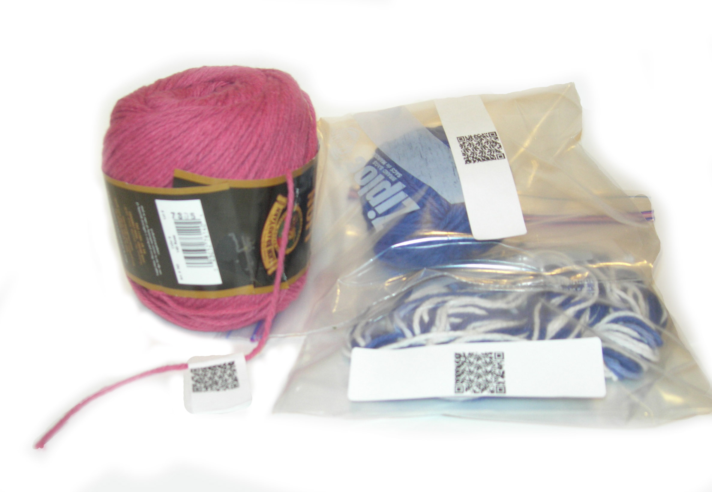 Yarn labeled, in Zip-Lock bags