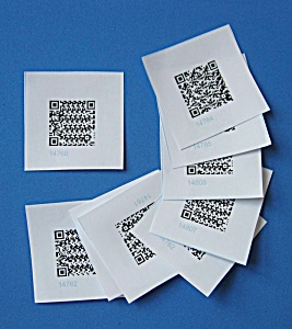 50 Pre-printed Washable Vinyl Audio Labels (Image1)